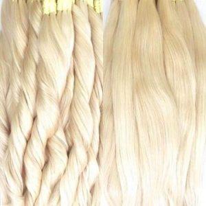 cabelos humanos loiros liso mega hair alongamento capilar aplique