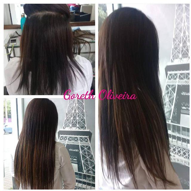 mega hair cabelos escuros