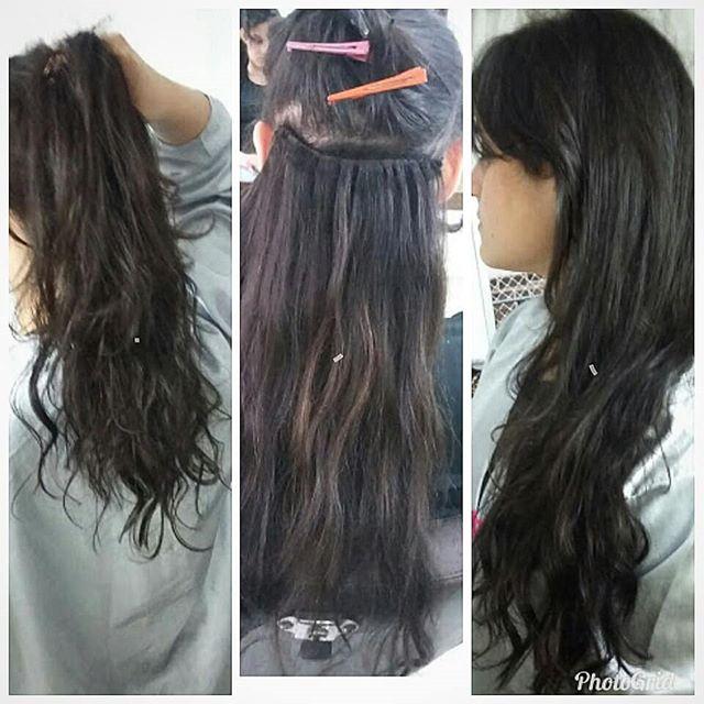 cabelos escuros mega hair mulher beleza