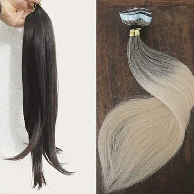 mega hair cabelos escuros ombrè